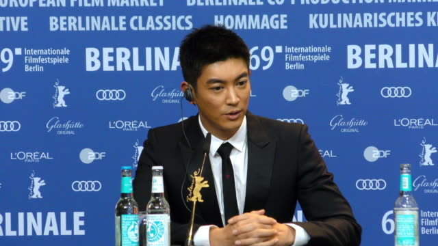 Du Jiang attends the 'So Long My Son' Press Conference during the 69th Berlinale International Film Festival Berlin at Grand Hyatt Hotel on February...