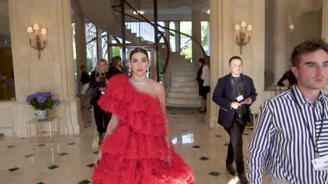 SLOMO Dua Lipa at amfAR Cannes Gala 2019 Arrivals at Hotel du CapEdenRoc on May 23 2019 in Cap d'Antibes France