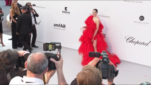 Dua Lipa at the amfAR Cannes Gala 2019 during The 72nd Cannes Film Festival on May 14 2019 in Cannes France