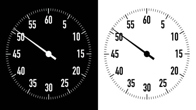 stockvideo's en b-roll-footage met dual 10-second countdown stopwatch graphics op zwart & wit achtergrond - 10 seconds or greater