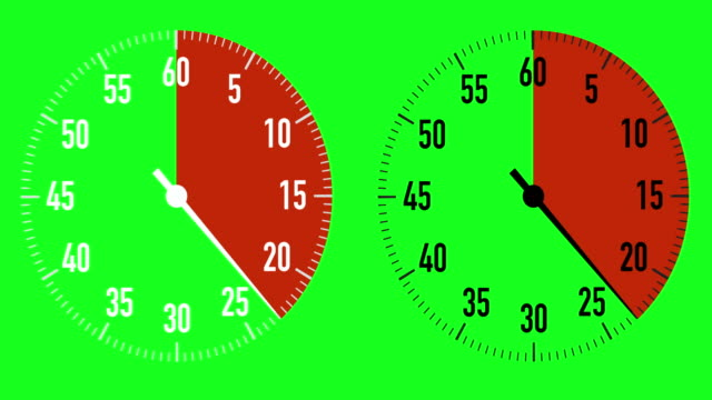 stockvideo's en b-roll-footage met dual 30-seconden countdown stopwatch graphics op chroma key achtergrond - 30 seconds or greater