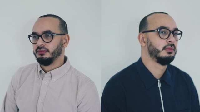 Dual-Shot Portraits of a mixed raced man