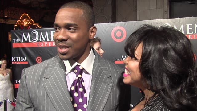 duane martin and tisha campbell on duane's picture illuminated on the el capitan marquee the many collaborations that went into this project and on... - martin campbell stock videos and b-roll footage