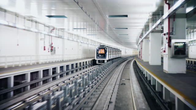 POV Dubai airport metro