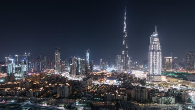 Dubai city night view