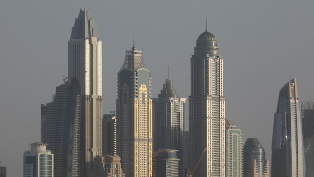 dubai financial market interiors and cityscape in dubai united arab emirates on sunday september 6 2020 - dish dash stock videos & royalty-free footage