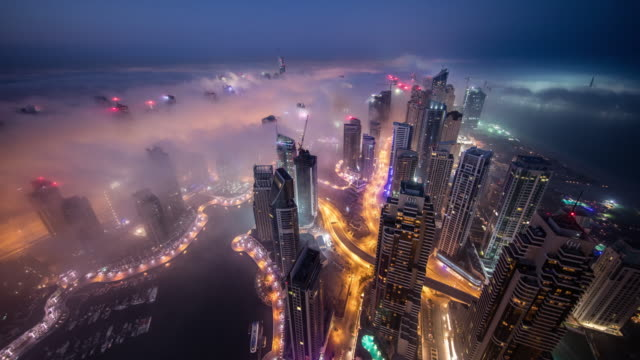 dubai fog - skyline stock videos & royalty-free footage