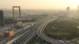 Dubai Frame view from world trade centre