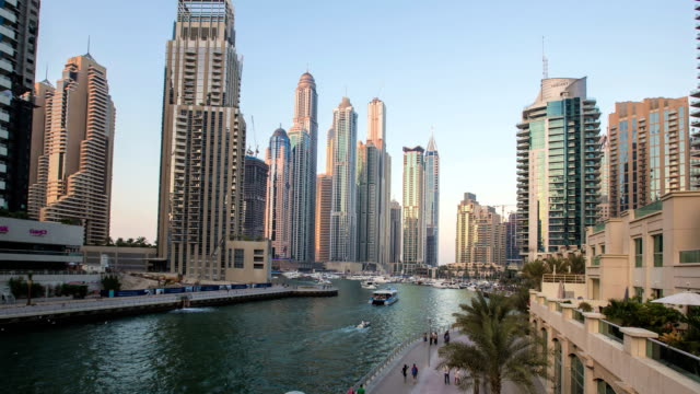 dubai marina - residential district stock videos & royalty-free footage