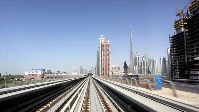 Dubai Metro Point of View in Motion