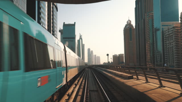 dubai metro transportation - rail transportation stock videos & royalty-free footage