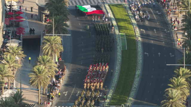 dubai national day parade - day stock videos & royalty-free footage