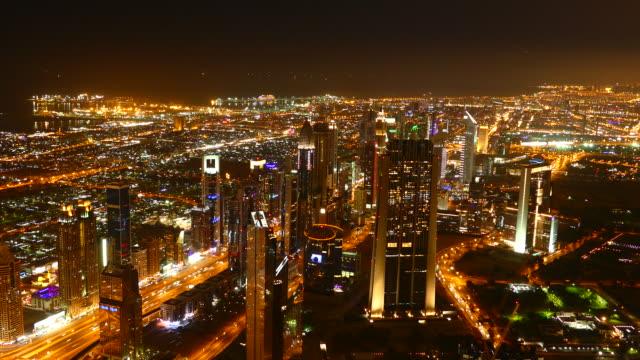 4K Dubai night lights