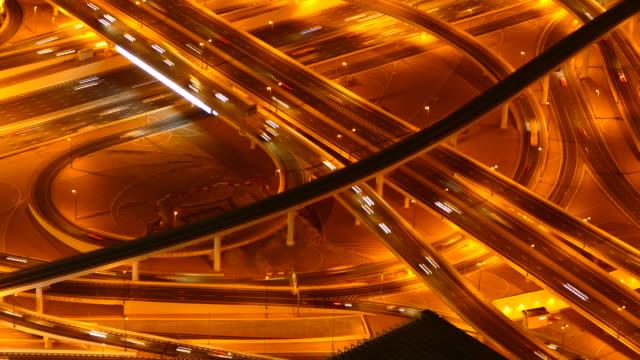 4K Dubai night road junction