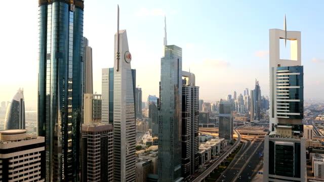 Dubai Sheikh Zayed Road transport commuter skyscraper metro