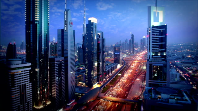 dubai skyline - dubai stock videos & royalty-free footage