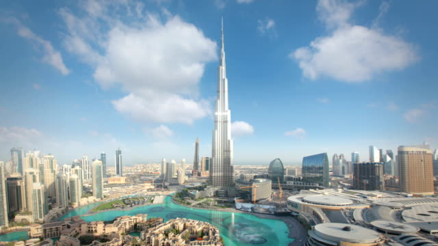 stockvideo's en b-roll-footage met dubai skyline - skyline