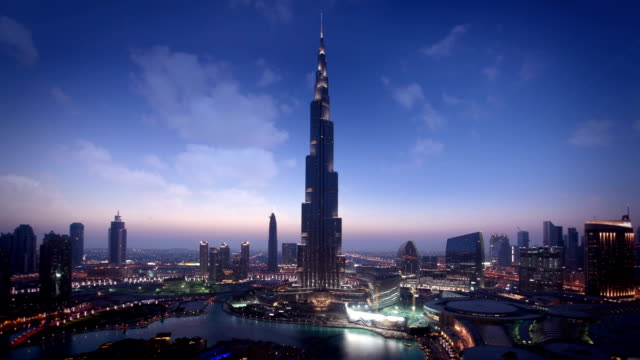dubai skyline - skyline stock videos & royalty-free footage