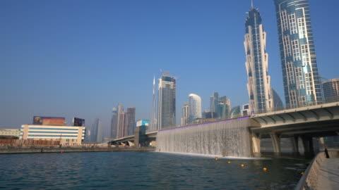 dubai water canal and bridge, dubai - canal stock videos & royalty-free footage