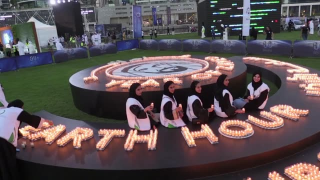 dubai's electricity and water authority stages earth hour during which the city's iconic landmark buildings including the world's highest tower burj... - climate icon stock videos & royalty-free footage