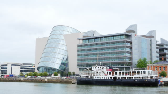 dublin convention centre in north wall quay - cylinder stock videos & royalty-free footage