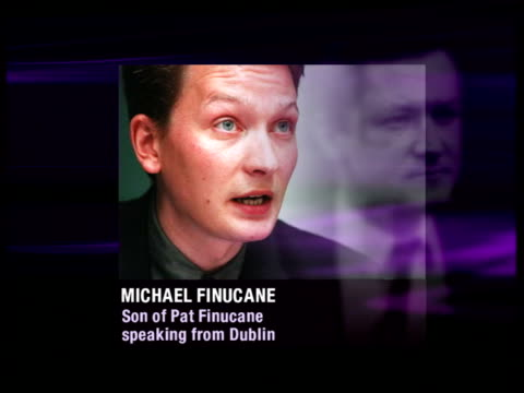 dublin graphic michael finucane phono sot inquiry is a stalling mechanism by the british government - phono einzelwort stock-videos und b-roll-filmmaterial