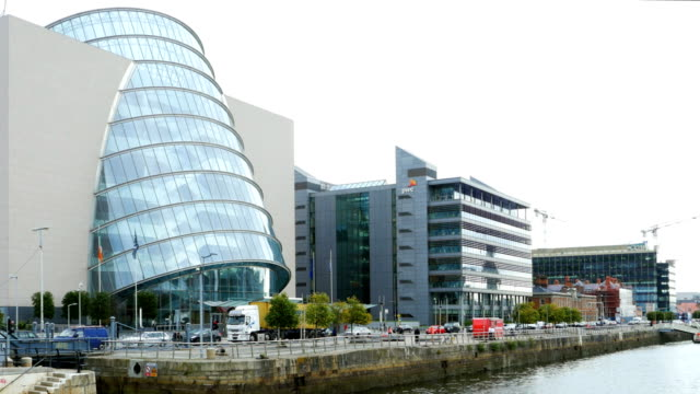 dublin north wall quay and convention centre - republic of ireland stock videos & royalty-free footage