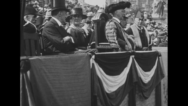 dublin parades in support of treaty, black and tans leave ireland - 1921 stock videos & royalty-free footage
