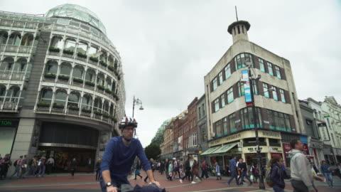 stockvideo's en b-roll-footage met dublin st stephen's green and stephen's green shopping centre - shopping centre