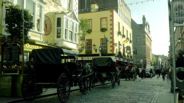 dublin temple bar - ireland stock videos and b-roll footage
