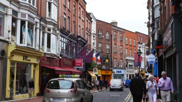 dublin wicklow street - brick stock videos & royalty-free footage