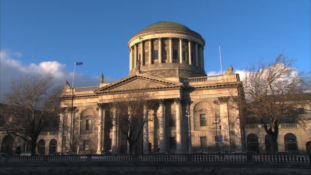 dublin's four courts - court stock videos & royalty-free footage
