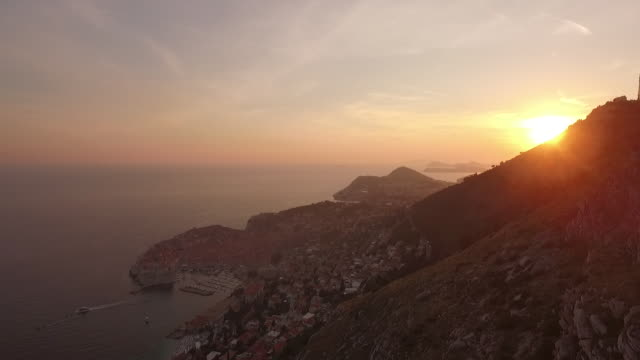 dubrovnik, croatia, sunset, adriatic sea, adventure - adriatic sea stock videos & royalty-free footage