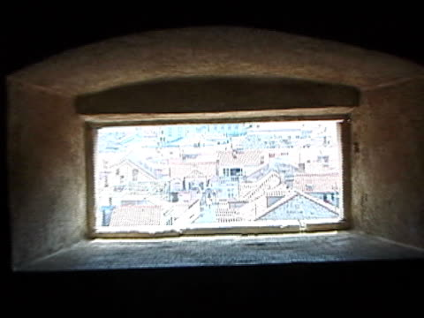 Dubrovnik, Croatia Through Rectangle Hole in City Wall, Push