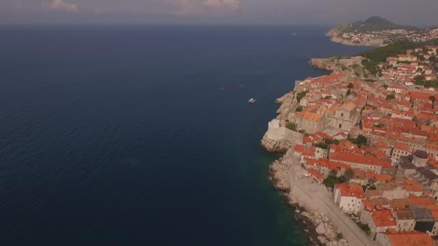 dubrovnik, fortress lovrijenac, croatia, dalmatia region - croatia, europe - boundary stock videos & royalty-free footage