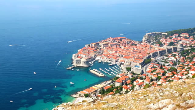 hd: dubrovnik old town, croatia - unesco world heritage site stock videos & royalty-free footage