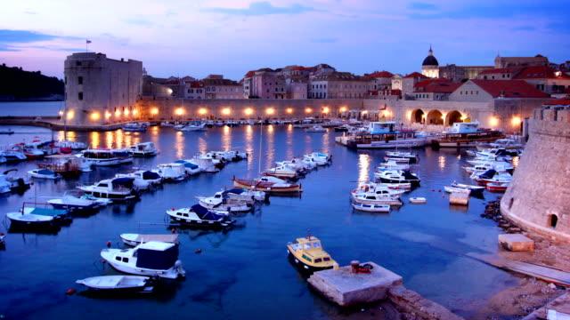 Altstadt von Dubrovnik Hafen Timelapse