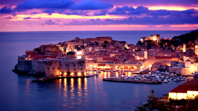 dubrovnik old town timelapse - mediterranean culture stock videos & royalty-free footage