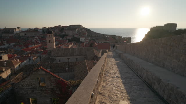 dubrovnik old town walls - surrounding wall stock videos and b-roll footage