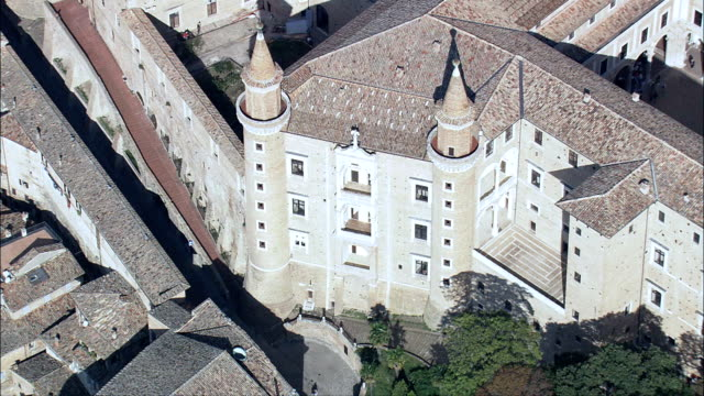 Ducal Palace, Urbino  - Aerial View - The Marches, Pesaro and Urbino, Urbino, Italy