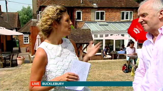 Duchess of Cambridge admitted to hospital for the royal birth ENGLAND Berkshire Bucklebury The Old Boot pub EXT Reporter to camera John Haley...
