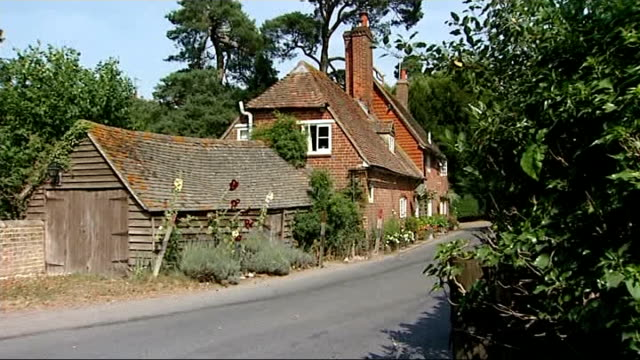 Duchess of Cambridge admitted to hospital for the royal birth ENGLAND Berkshire Bucklebury EXT Wide shot church Village house Various shots 'Cottage...