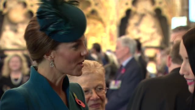 Duchess of Cambridge and Duke of Sussex attend Anzac Day Service of Commemoration at Westminster Abbey UK London and Duke of Sussex and Duchess of...