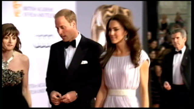 duchess of cambridge announces charity patronages; lib usa: california: los angeles: ext **beware flash photography*** prince william and catherine... - floor length stock videos & royalty-free footage