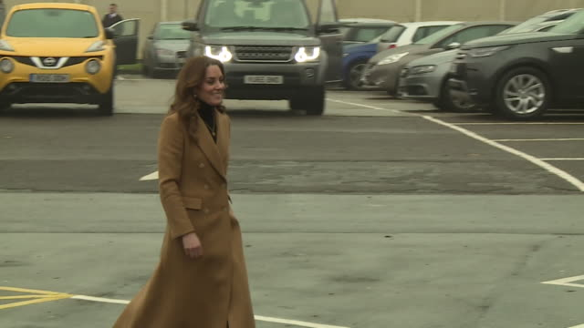 duchess of cambridge arrives at hmp woking prison to meet ex female inmates to discuss their early years experiences as she launches a nationwide... - childhood stock videos & royalty-free footage