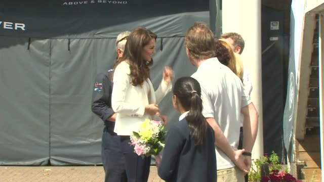 duchess of cambridge attends land rover bar roadshow at docklands england london isle of dogs docklands sailing and watersports centre throughout***... - land rover stock videos and b-roll footage