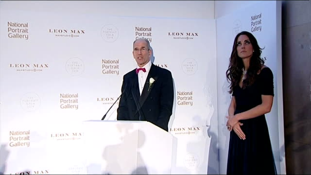 duchess of cambridge attends the portrait gala 2014 director of national portrait gallery speech with kate beside sot catherine duchess of cambridge... - gala stock videos & royalty-free footage