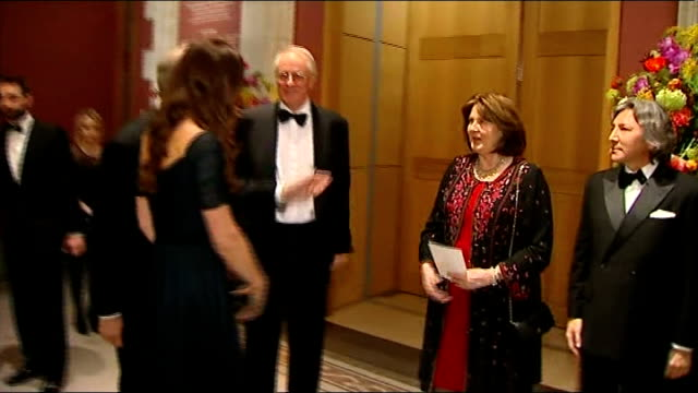 vídeos de stock e filmes b-roll de duchess of cambridge attends the portrait gala 2014 england london national portrait gallery photography *** b/w photograph of actor michael caine /... - michael caine ator