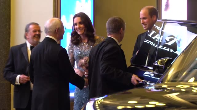 duchess of cambridge duke of cambridge leave the royal variety performance 2017 at palladium theatre on november 24 2017 in london england - duchess of cambridge stock videos & royalty-free footage