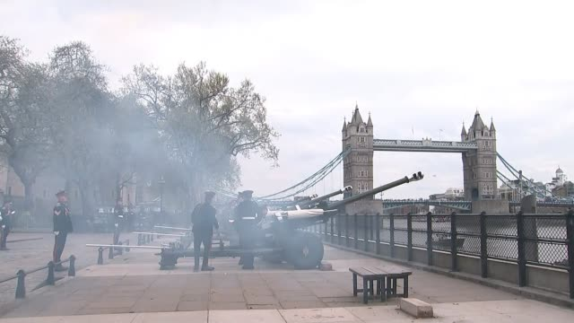 Duchess of Cambridge gives birth to baby boy Westminster Abbey the bells sounded ENGLAND London Tower of London EXT Various of gun salute outside...